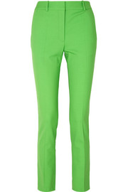 Victoria Beckham Grain de poudre stretch-wool slim-leg pants