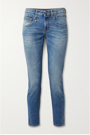 R13 Boy cropped slim boyfriend jeans