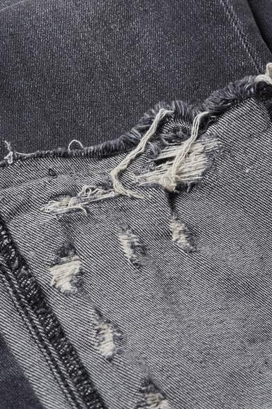 R13 Kate tief sitzende Skinny Jeans in Distressed-Optik