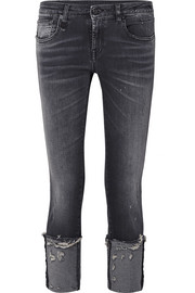 R13 Kate low-rise distressed skinny jeans