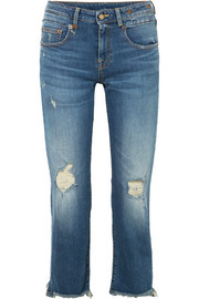 Boy distressed straight-leg jeans