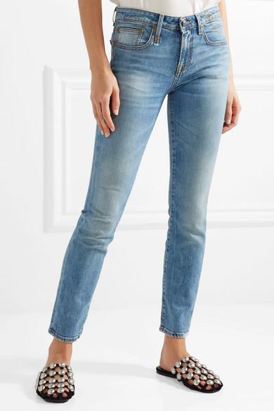 R13 Alison tief sitzende Skinny Jeans
