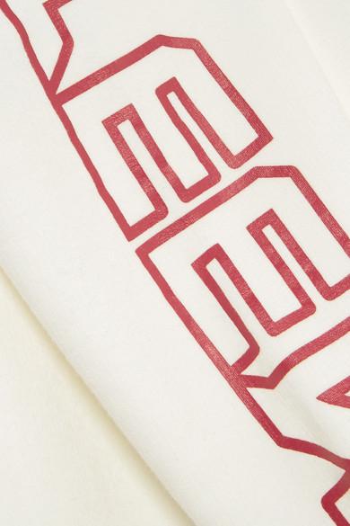 R13 R Thirteen bedrucktes Kapuzenoberteil aus Jersey aus einer Baumwollmischung