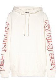 R13 R Thirteen printed cotton-blend jersey hooded top