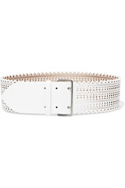 Alaïa Laser-cut leather belt