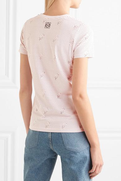 Tee-shirt En Jersey De Coton Imprimé Stretch Loewe