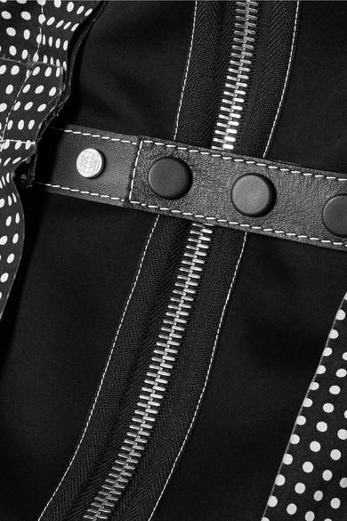 Loewe Schulterfreie Robe aus Baumwollpopeline mit Polka-Dots