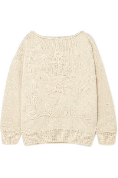 Loewe - Oversized Cashmere Sweater - Cream