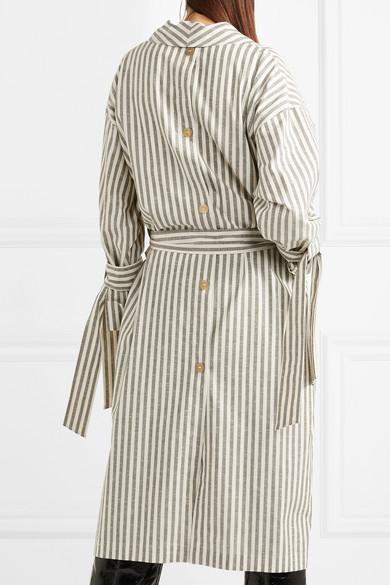 Loewe Gestreifter Mantel aus Baumwolle mit Flammgarneffekt Websites Online-Verkauf 6Uk8X8oq
