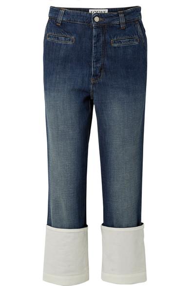 Loewe Fisherman hoch sitzende Jeans mit geradem Bein und Gaze-Besatz
