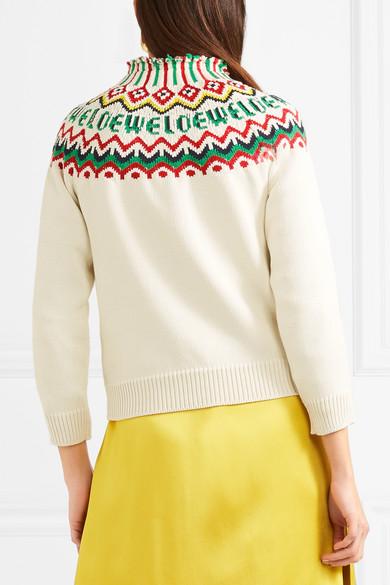 Loewe Pullover aus einer Baumwollmischung mit Fair-Isle-Muster Sneakernews Online Nagelneu Unisex Zum Verkauf Zl8rHfof