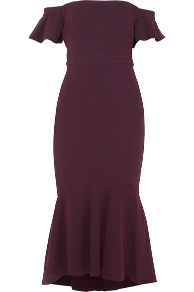 Rachel Zoe Devin schulterfreies Kleid aus Stretch-Crêpe