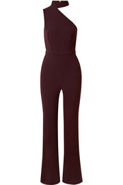 Suki one-shoulder stretch-crepe jumpsuit