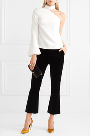 Quinn one-shoulder crepe top