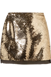 Finn sequined chiffon mini skirt