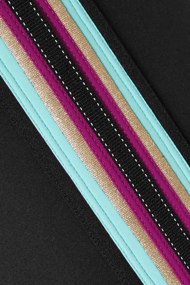 NO KA'OI Leggings aus Stretch-Material mit Streifen