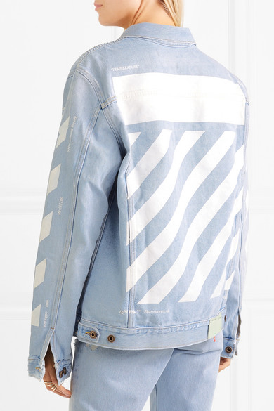 Off white jeans jacket