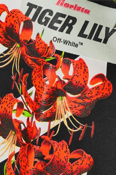Off-White Bedrucktes Kapuzenoberteil aus Baumwoll-Jersey