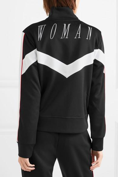 Off-White Trainingsjacke aus glänzendem Jersey mit Streifen