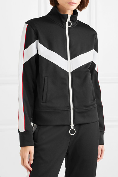 Striped Satin Jersey Track Jacket by Off White