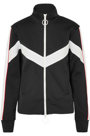 Striped satin-jersey track jacket