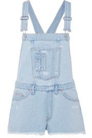 Off-White Distressed denim overalls