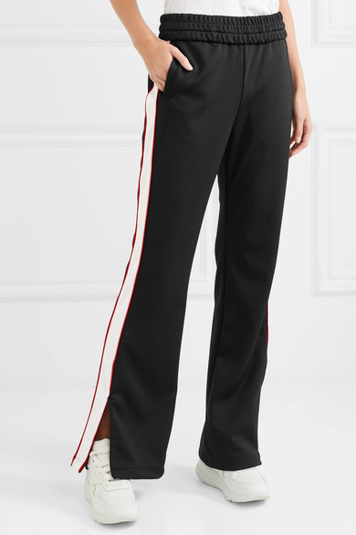 Off-White Jogginghose aus glänzendem Jersey mit Streifen