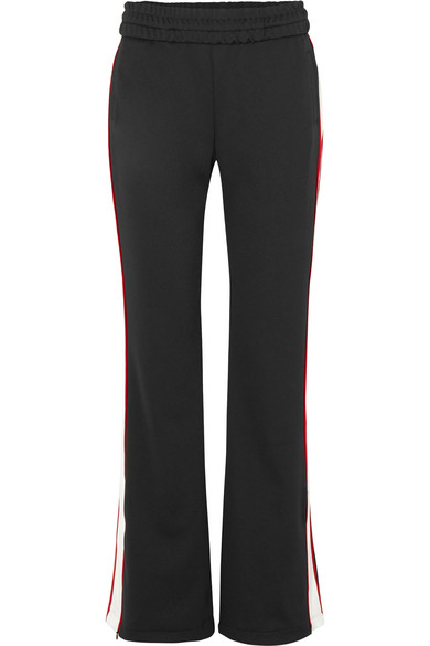 Off-White - Striped Satin-jersey Track Pants - Black