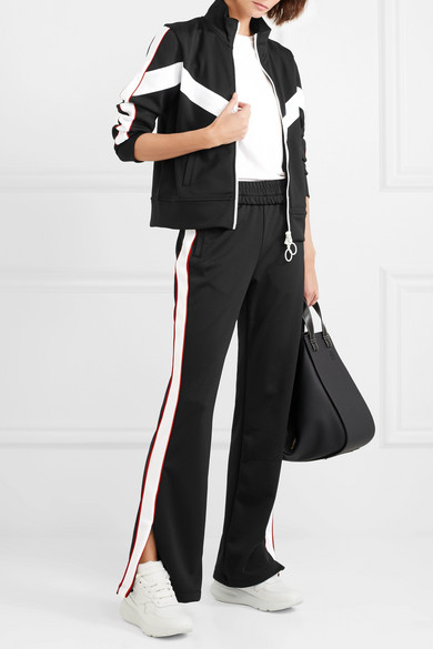 Striped Satin Jersey Track Pants by Off White