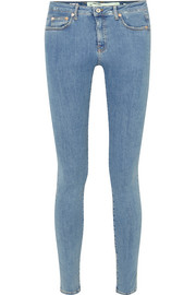 Printed mid-rise skinny jeans