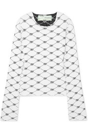 Intarsia knitted top