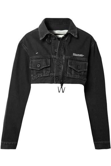Off-White - Cropped Denim Jacket - Black