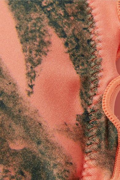 ViX Tropicus Ripple bedrucktes Triangel-Bikini-Oberteil