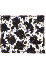 Alexander McQueen Printed wool and silk-blend scarf