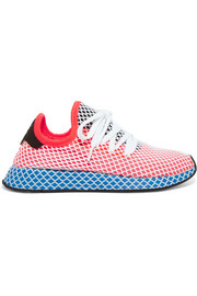 Deerupt suede-trimmed stretch-knit and mesh sneakers