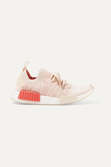 Adidas Women'S Nmd_R1 Stlt Primeknit Originals Running Shoe in Peach