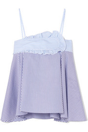 Carven Striped cotton-poplin camisole