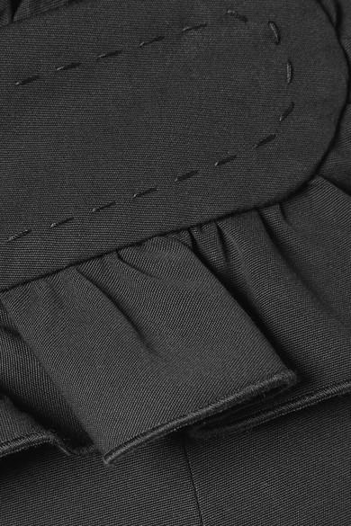 2018 Neueste Freies Verschiffen Ausgezeichnet Carven Hose mit geradem Bein aus Baumwolle mit Rüschen lrxC9