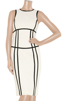 Michael Kors | Leather-trimmed bouclé-wool dress | NET-A-PORTER.COM from net-a-porter.com