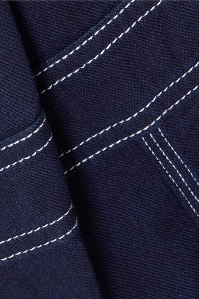 Mm6 Maison Margiela Jumpsuit From Denim Shoulder With Asymmetric Partie