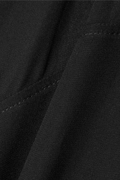 MM6 Maison Margiela Asymmetrisches Midikleid aus Chiffon mit Schulter-Cut-out