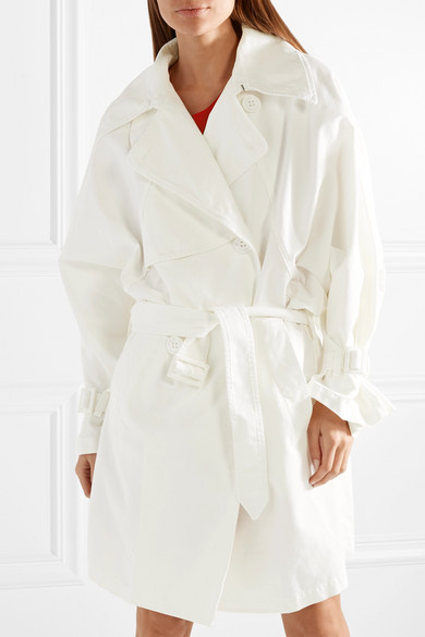 Oversized Cotton Canvas Trench Coat by Mm6 Maison Margiela