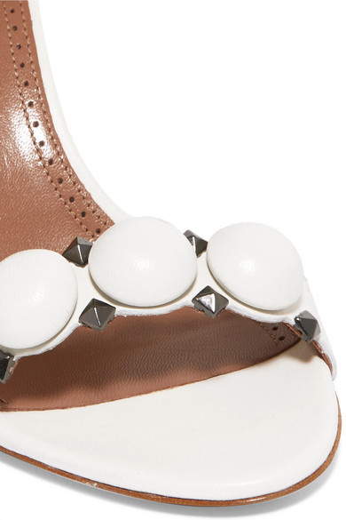 Alaïa Bombe nietenverzierte Sandalen aus Leder
