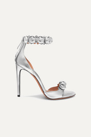 Alaïa Bombe studded metallic leather sandals