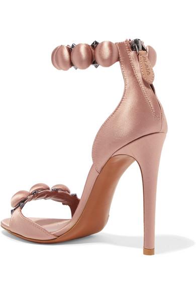 Rivets Alaïa Bomb Sandals In Satin With