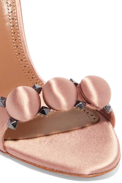 Alaïa Bombe Sandalen aus Satin mit Nieten