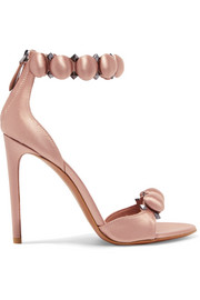 Alaïa Bombe studded satin sandals