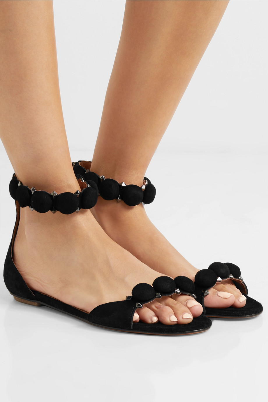 Alaïa Bombe studded suede sandals