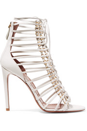 Alaïa 110 lace-up leather sandals