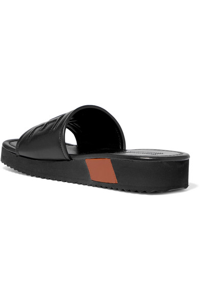 Loewe Mules From Embossed Leather